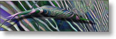 Metal Print featuring the digital art Aztec Party by Steve Sperry