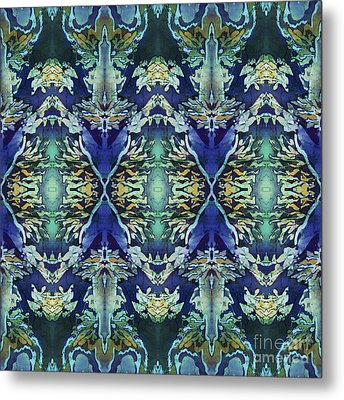 Azuraz Candle Tiled Metal Print