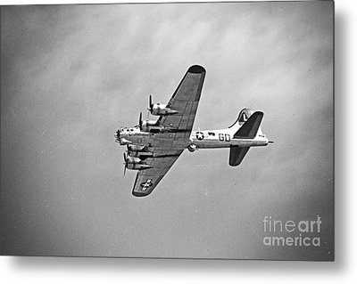 Metal Print featuring the photograph B-17 Bomber - Dust And Scratch by Thanh Tran