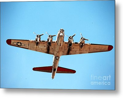 Metal Print featuring the photograph B-17 Bomber - Technicolor by Thanh Tran