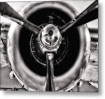 B-25 Prop Hdr Monochromatic Metal Print
