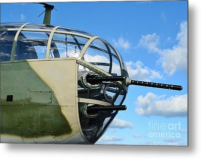 B-25j Nose Metal Print by Lynda Dawson-Youngclaus