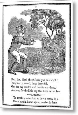 Baa, Baa, Black Sheep, 1833 Metal Print
