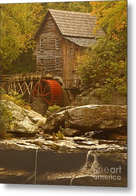 Babcock Glade Creek Grist Mill Autumn  Metal Print