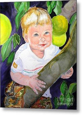 Baby In The Tree Metal Print by Susan  Clark