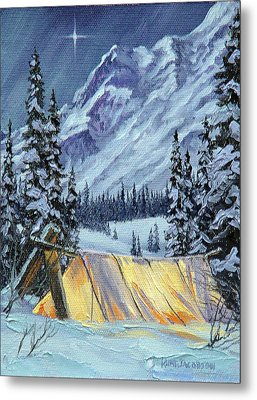 Metal Print featuring the painting Baby Its Cold Outside by Kurt Jacobson