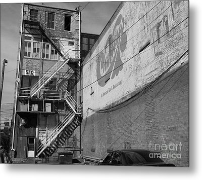 Metal Print featuring the photograph Back Of Historic Louisville Building by Utopia Concepts