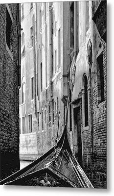 Metal Print featuring the photograph Back Street Gondola by Graham Hawcroft pixsellpix