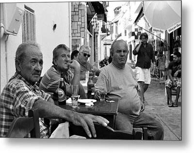 Metal Print featuring the photograph Back Streets Of Skiathos by Graham Hawcroft pixsellpix