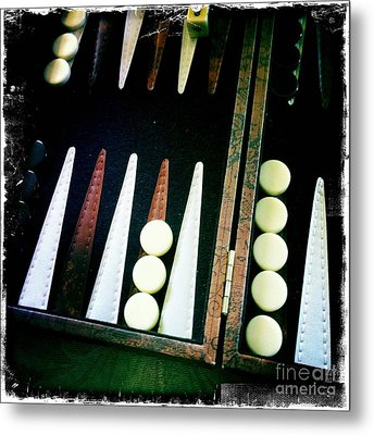 Metal Print featuring the photograph Backgammon Anyone by Nina Prommer