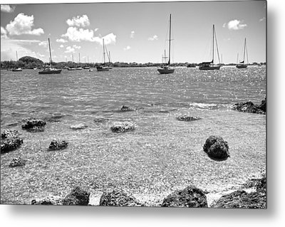 Background Sailboats Metal Print by Betsy Knapp