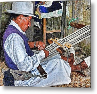 Backstrap Loom - Ecuador Metal Print by Julia Springer