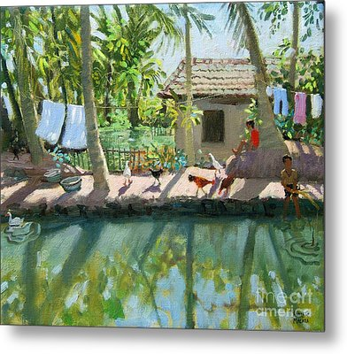 Backwaters India  Metal Print by Andrew Macara