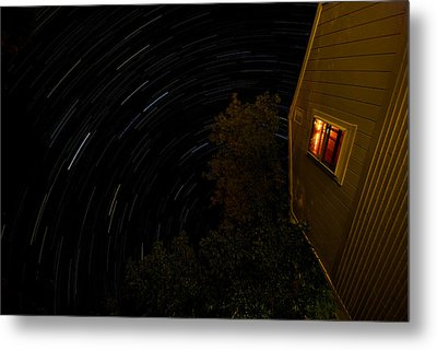 Backyard Star Trails Metal Print by Mike Horvath