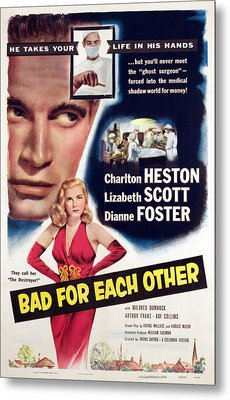 Bad For Each Other, Charlton Heston Metal Print by Everett