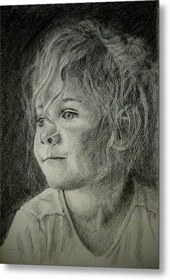 Metal Print featuring the drawing Bad Hair Day Mom by Lynn Hughes