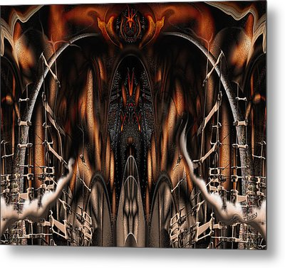 Metal Print featuring the digital art Bad Ride by Steve Sperry