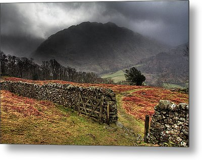 Bad Weather Over Seatoller Metal Print by Image by Roger Fleet.