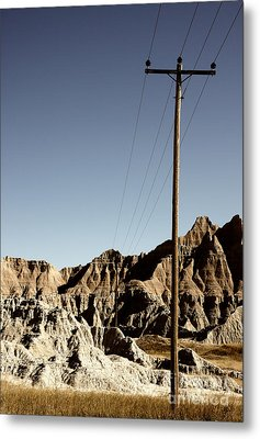 Badlands 1919 Metal Print by Holger Ostwald