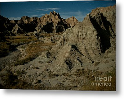 Badlands By Moonlight Metal Print by Chris Brewington Photography LLC