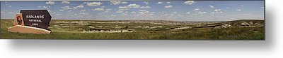 Badlands Panorama Metal Print by Michael Flood