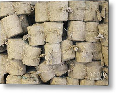 Bags Of Flax Metal Print by Magomed Magomedagaev