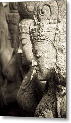 Bali, Indonesia, Asia Stone Statues Metal Print by Keith Levit