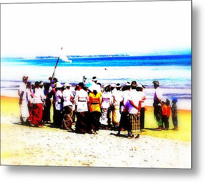Balinese Beach In Mourning Metal Print by Funkpix Photo Hunter