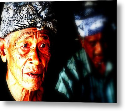 Balinese Old Man Metal Print by Funkpix Photo Hunter