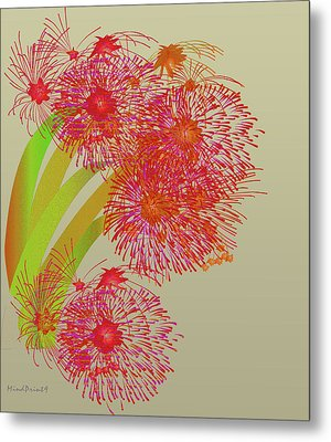 Metal Print featuring the digital art Ball Of Fire by Asok Mukhopadhyay