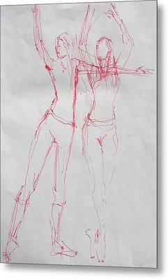Ballerina 8040 Metal Print by Elizabeth Parashis