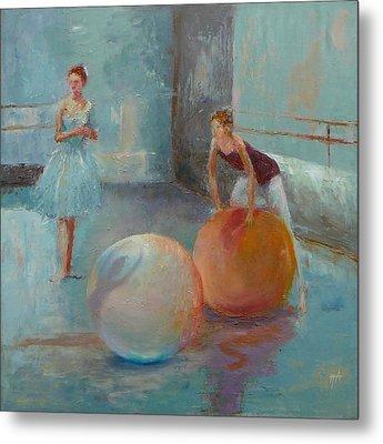 Ballet Class With Balls Metal Print by Irena  Jablonski