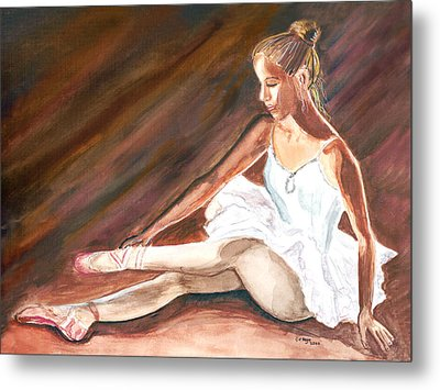 Metal Print featuring the painting Ballet Dancer by Clara Sue Beym