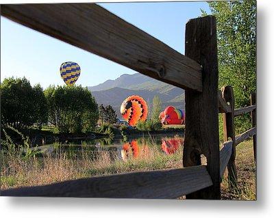 Balloon Launch-ridgway 2012 Metal Print by Marta Alfred