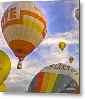 Balloon Ride Metal Print by Heiko Koehrer-Wagner