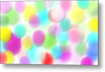 Balloons In The Sky Metal Print