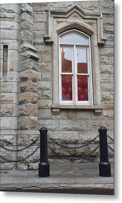 Balloons In The Window Metal Print by Anna Villarreal Garbis
