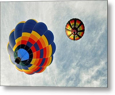 Metal Print featuring the photograph Balloons On The Rise by Rick Frost