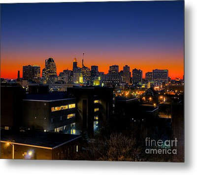 Metal Print featuring the photograph Baltimore At Sunset by Mark Dodd