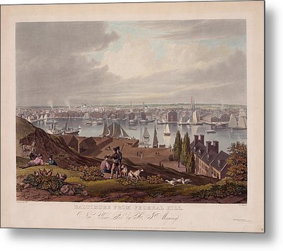 Baltimore Federal Hill Metal Print by Charles Shoup