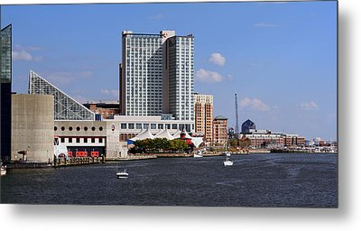 Metal Print featuring the photograph Baltimore Harbor by Karen Harrison