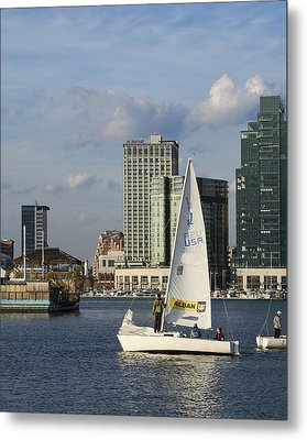 Baltimore Sail Boat - Maryland Metal Print by Brendan Reals
