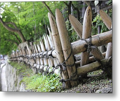 Bamboo And String Metal Print