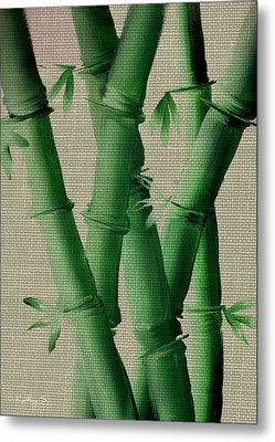 Metal Print featuring the painting Bamboo Cloth by Kathy Sheeran