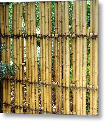 Bamboo Gate Metal Print