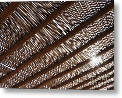 Bamboo Roof Metal Print by Jeremy Woodhouse