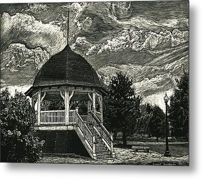 Bandstand On The Commons Metal Print by Robert Goudreau