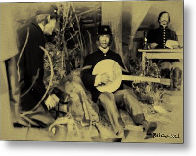 Banjo Playing Union Soldier Metal Print by Bill Cannon