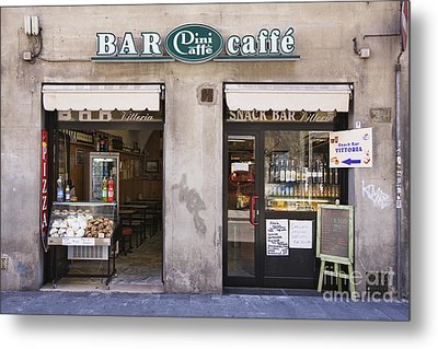 Bar Caffe Metal Print by Jeremy Woodhouse