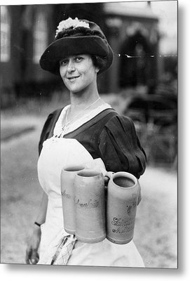 Bar Maid Metal Print by Fox Photos